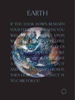 Earth poster folded