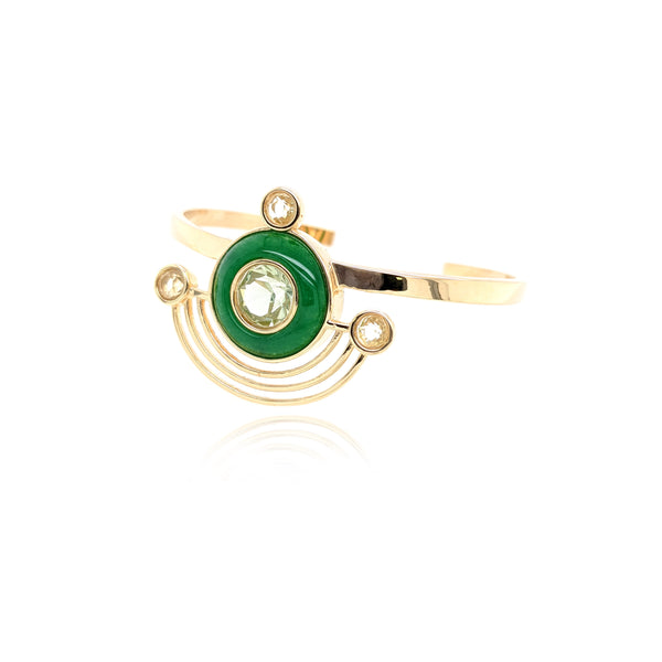 Orbit Bracelet - Peridot Green