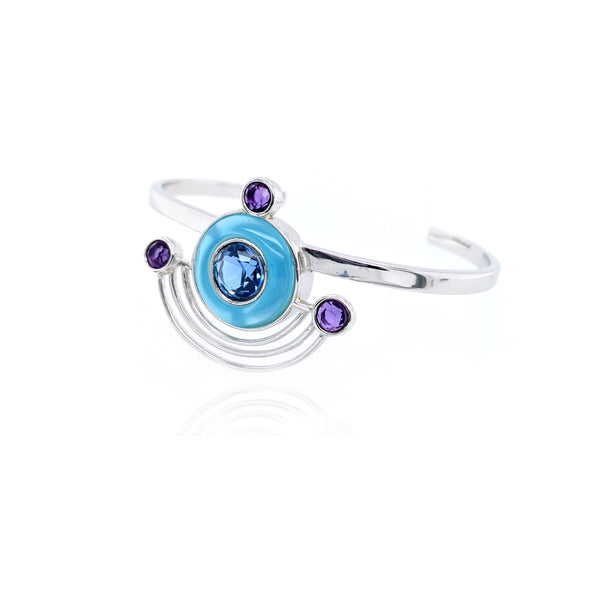 Orbit Bracelet - Silver Blue