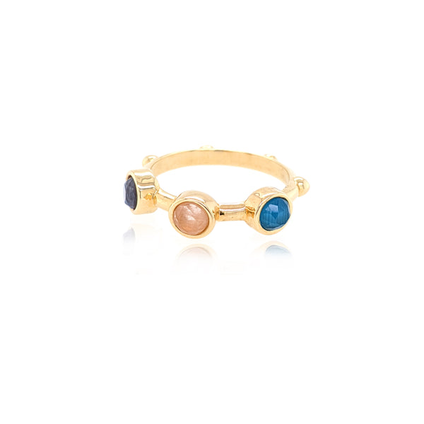 Trio Ring - Rose Blue