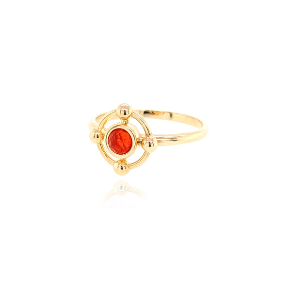 Mini Quadrant Ring - Ruby