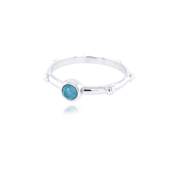 Solo Ring - Silver Blue Agate