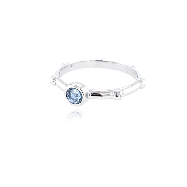 Solo Ring - Silver Blue Topaz