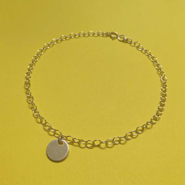 Round Tag Charm Anklet