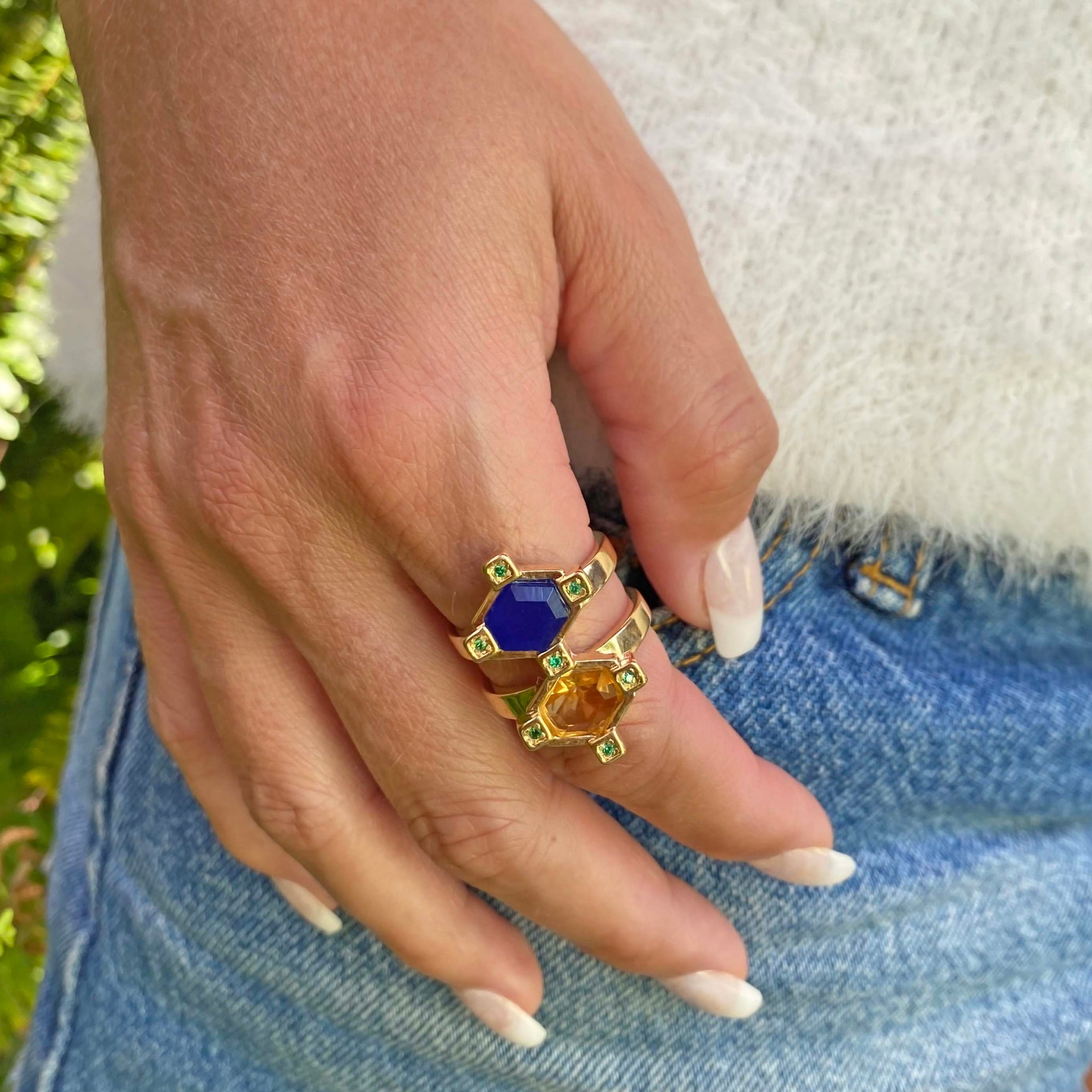 Yellow Gold filled gemstone ring My Jewelry Is by Taissa Maleck
