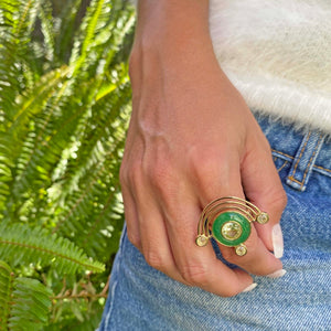 Yellow Gold filled gemstone statement gemstone ring, From My Jewelry is by Taissa Maleck