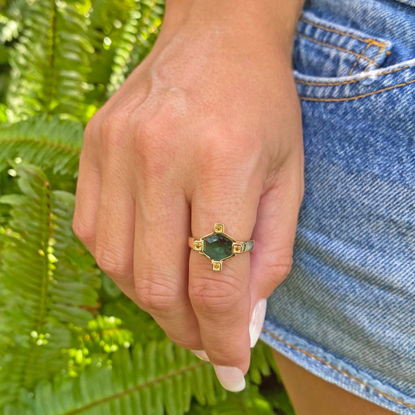 Yellow Gold filled gemstone ring, From My Jewelry is by Taissa Maleck