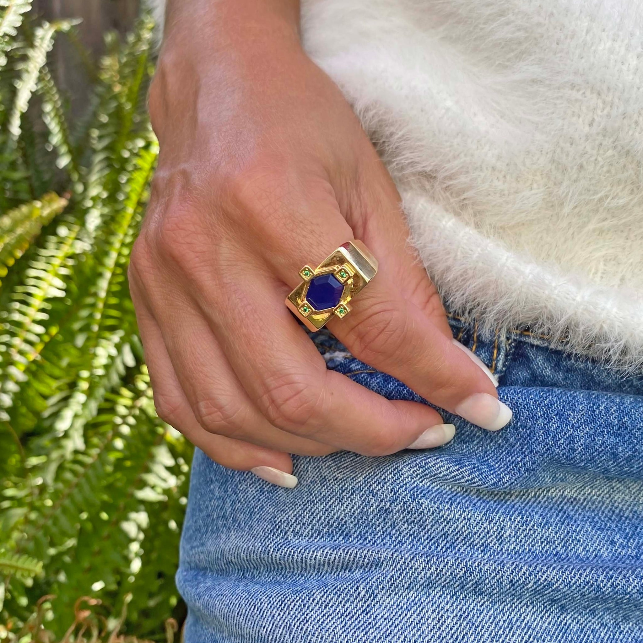 Yellow Gold filled gemstone ring , From My Jewelry is by Taissa Maleck