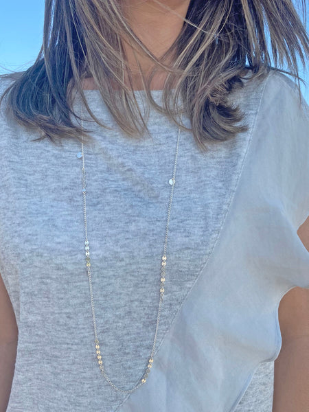 Long Sequin Chain Necklace