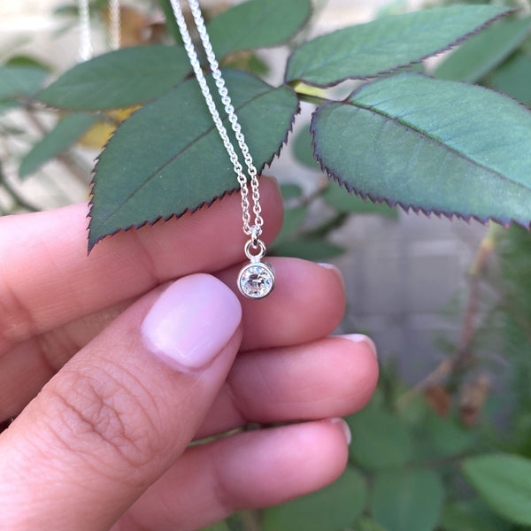 Solitaire Charm Necklace