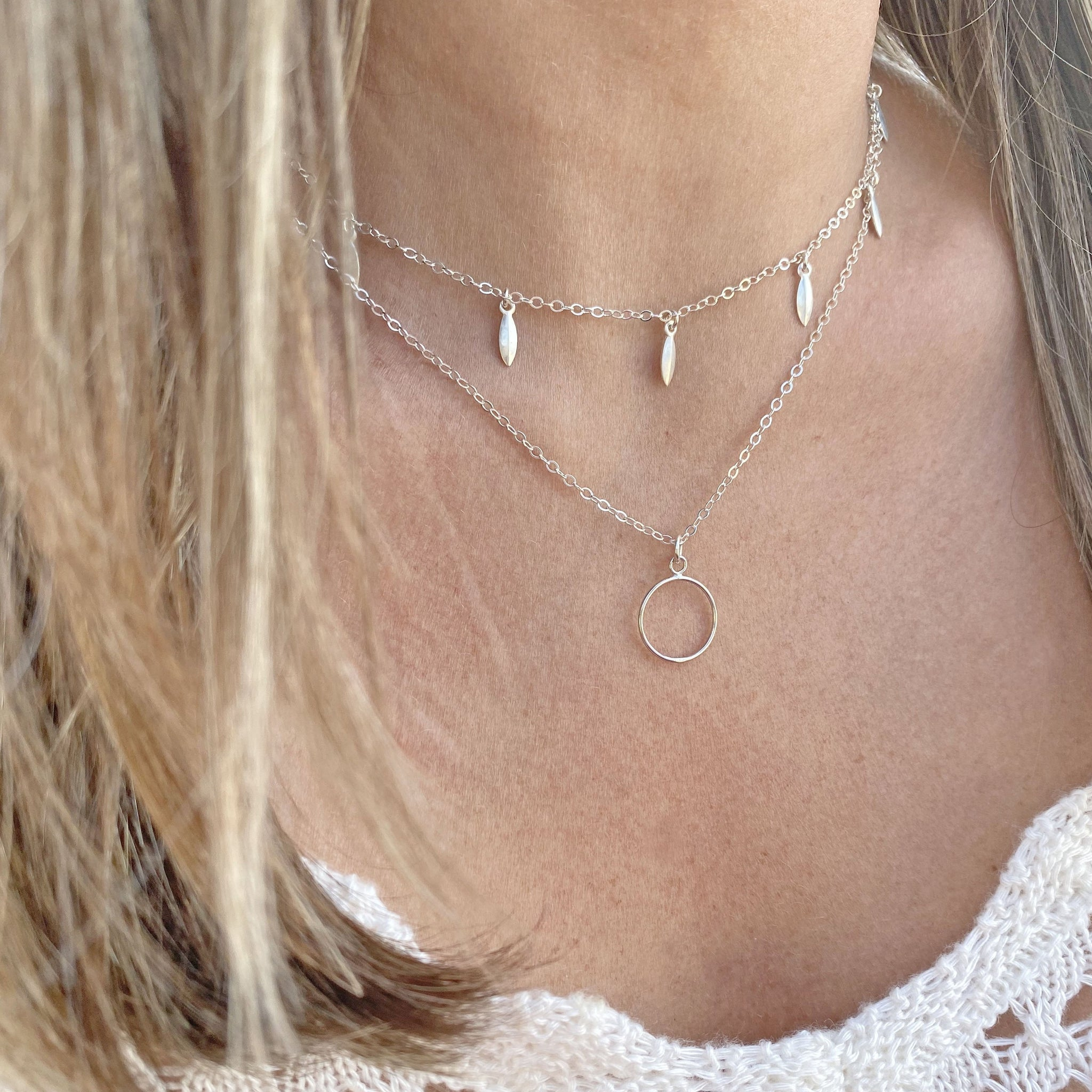 Sterling Silver Charm Necklace by Taissa Maleck from My Jewelry Is Online Store