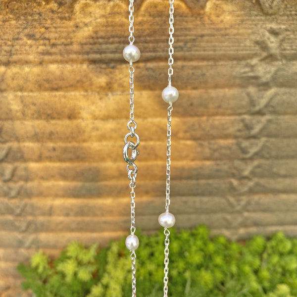 Sterling Silver Necklace with Freshwater Pearls by Taissa Maleck from My Jewelry Is Online Store