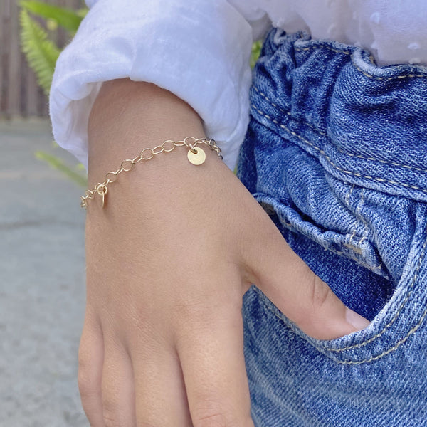 Sterling Silver and Gold-Filled Charm Bracelet by Taissa Maleck from My Jewelry Is Online Store