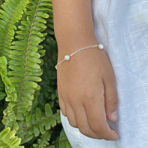 Sterling Silver Bracelet with Freshwater Pearls by Taissa Maleck from My Jewelry Is Online Store