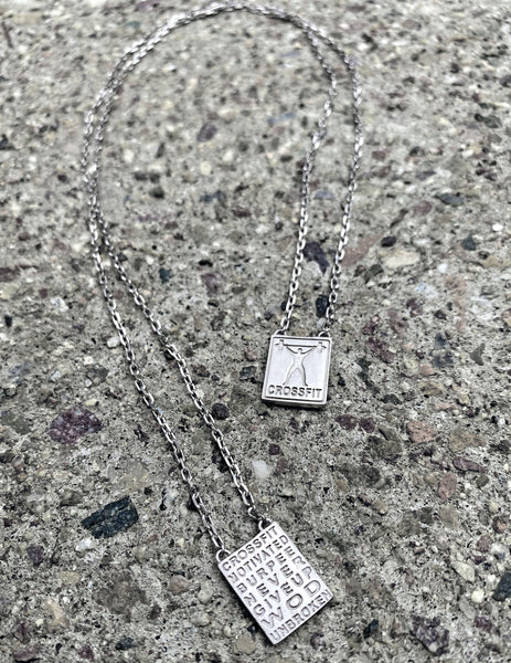 Crossfit Silver Necklace