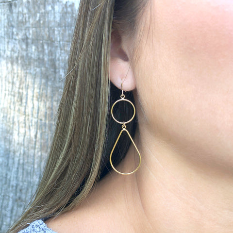 14Kt Yellow Gold Drop Earrings