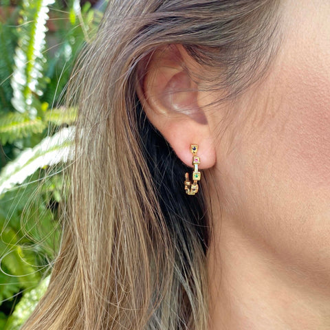 Yellow Gold filled hoop earrings MyJewelry Is by Taissa Maleck