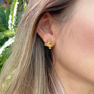Yellow Gold filled gemstone earrings , From My Jewelry is by Taissa Maleck