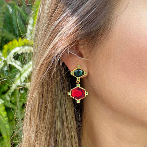 Yellow Gold filled gemstone earrings My Jewelry Is by Taissa Maleck