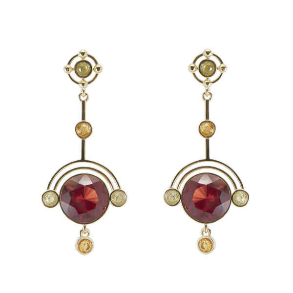 Quadrant Statement Earrings - Ruby