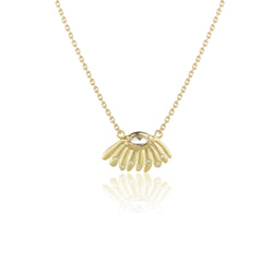 Hand made in London Brooke Gregson 18k gold Daisy Diamond Necklace