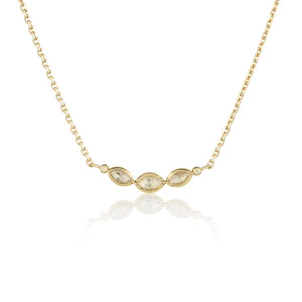 TRIPLE DIAMOND MARQUISE NECKLACE