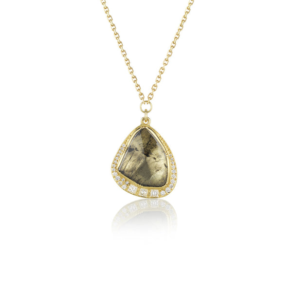 Hand made in London Brooke Gregson 18k gold diamond Necklace