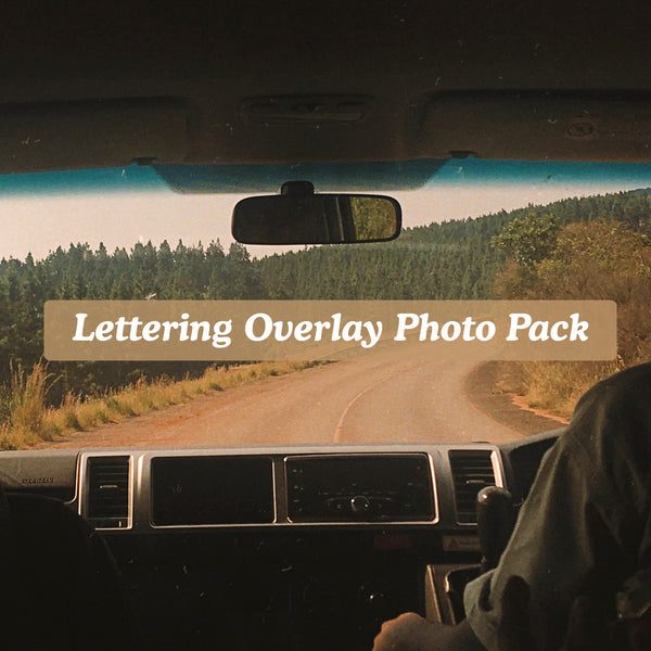 Lettering Overlay Photo Pack [No. 2]