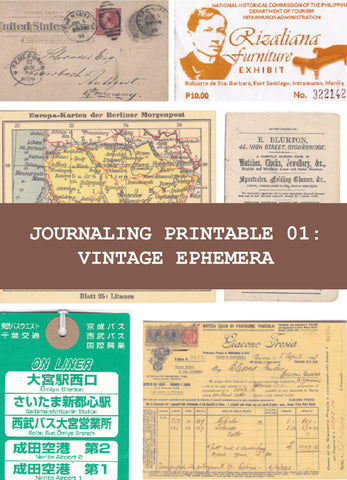 Journaling Printable 01: Vintage Ephemera