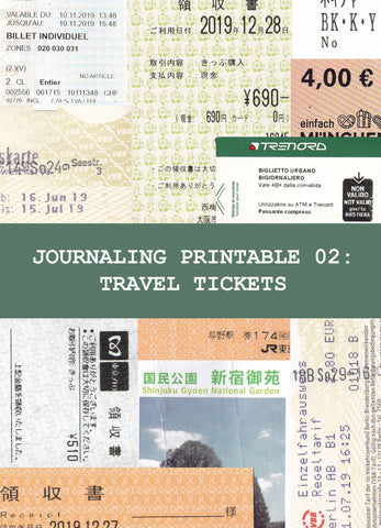Journaling Printable 02: Travel Tickets