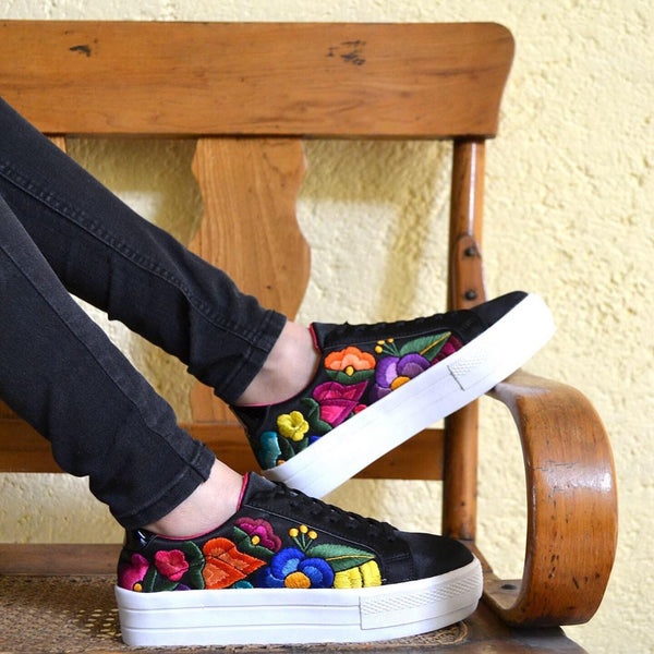Lolkina Frida Mexican Embroidered Platform Sneakers