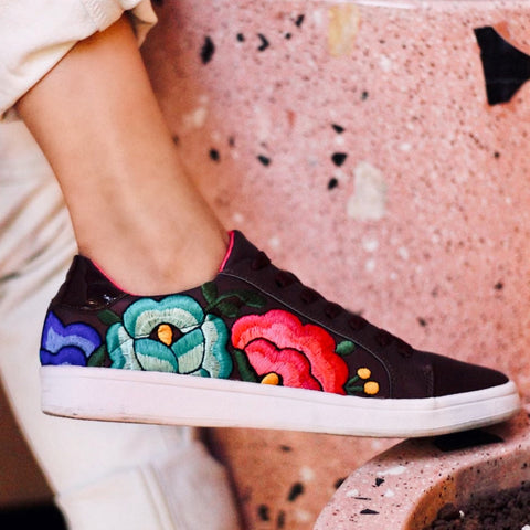 Lolkina Frida Mexican Embroidered Sneakers sizes 7 and 8  Price $70
