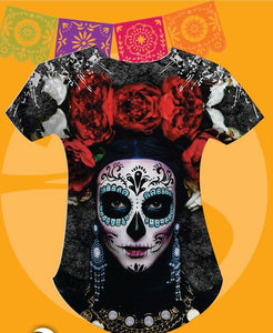 LA CATRINA/ROSES Day of The Dead T-Shirts Small and Medium Price $32