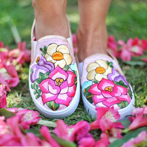 Lolkina Luisa Mexican Embroidered Sneakers from Kahlo's House Mexican Boutique