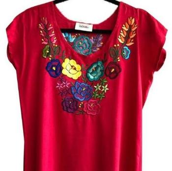 Lolkina Mexican Embroidered Dress from Kahlo's House Mexican Boutique