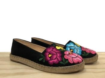 Lolkina Fabiana Mexican Embroidered Espadrilles from Kahlo's House Mexican Boutique