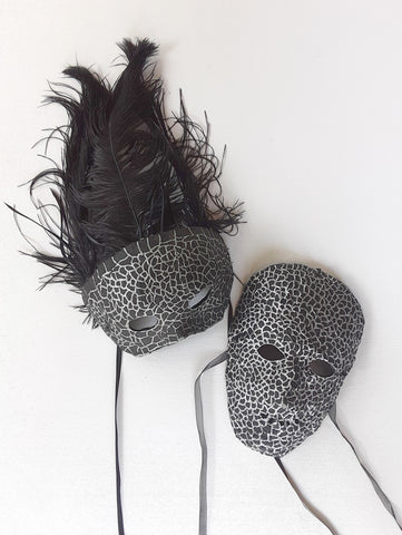 Black and Silver Couples Masks by Anthony Saldivar
