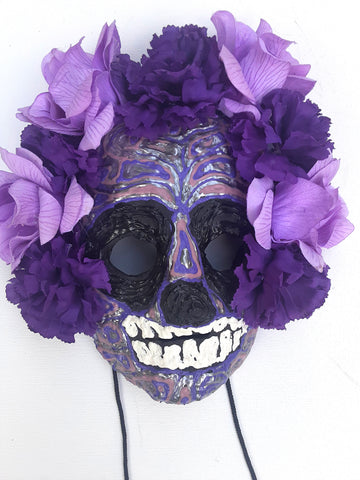 Calavera Morada Mask by Anthony Saldivar