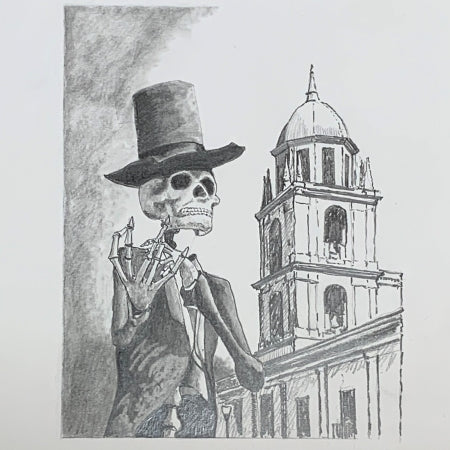El Catrin Skeleton Drawing by Roben Taglienti - tag+art  $137
