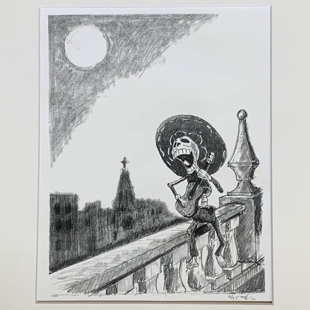 Canta y no llores-Sings and don't cry Skeleton Drawing by Roben Taglienti - tag+art  $137