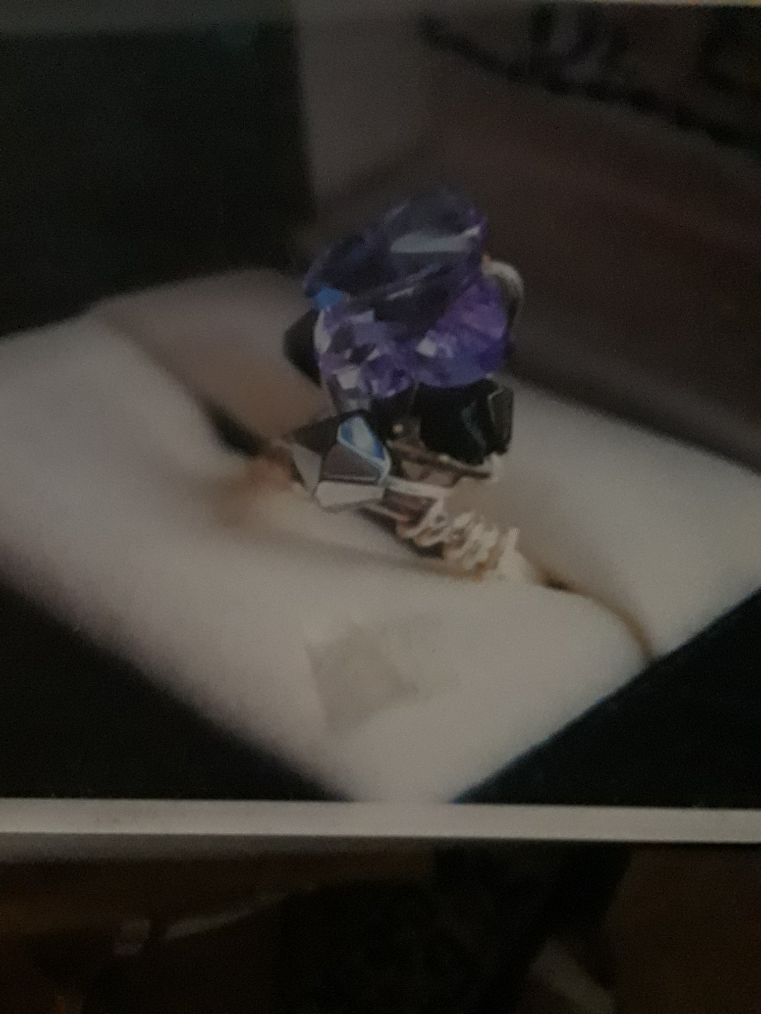 Purple Crystal Butterfly Ring by Dazzle Me Bag Designs