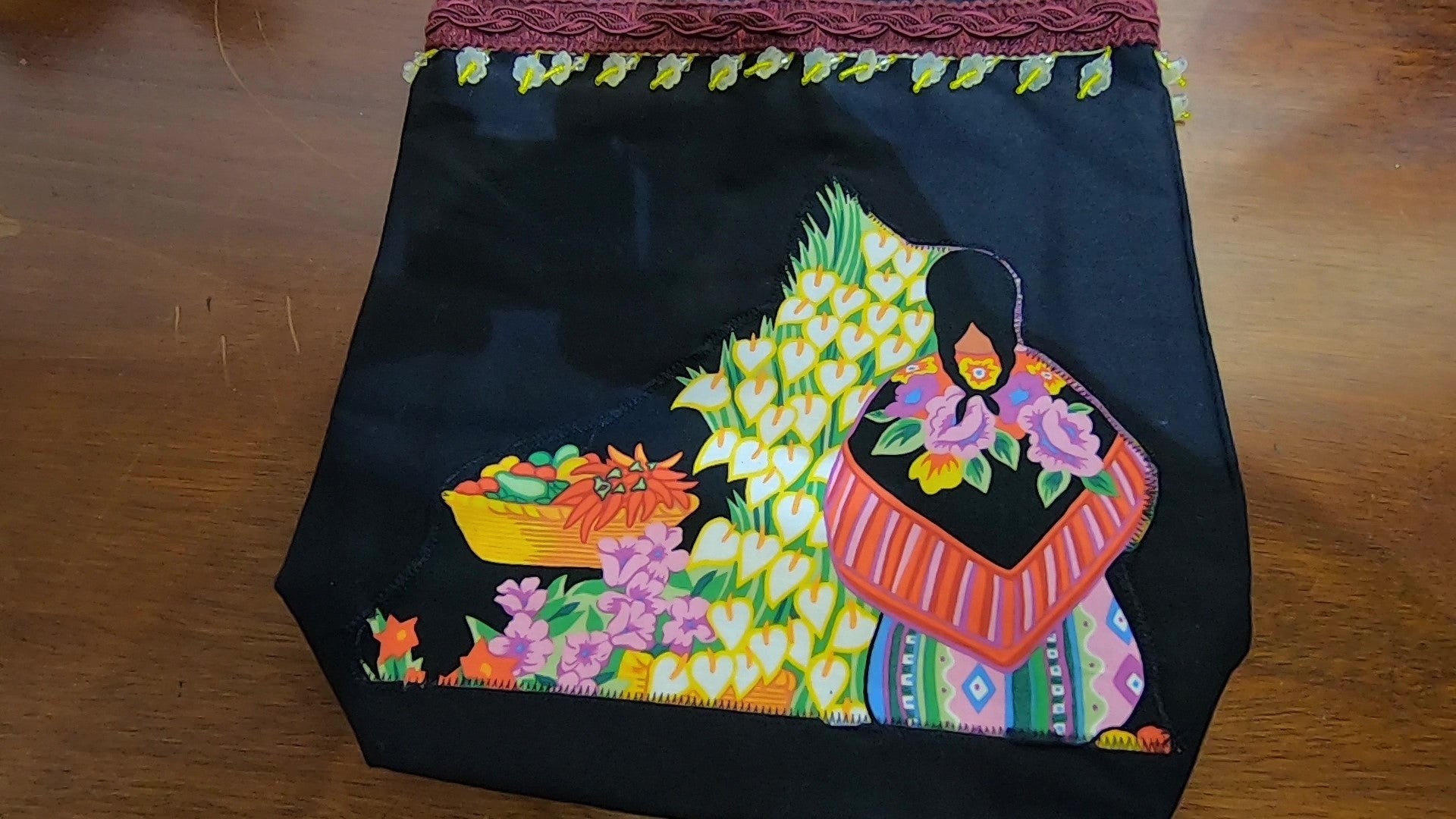 EL MERCADO Large Totebag by Dazzle Me Bag Designs  Organizers in the Interior $70
