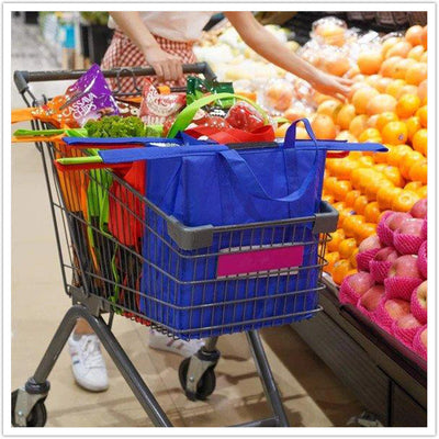 4-IN-1 REUSABLE GROCERY BAG AND SHOPPING CART BAGS