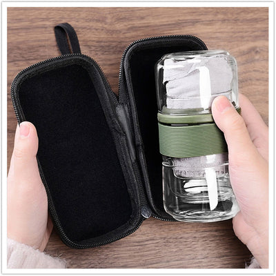 TRAVEL TEAWARE SETS WITH CARRING CASE