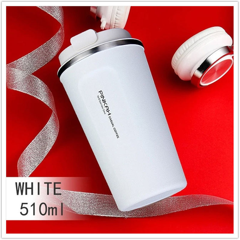 STAINLESS STEEL THERMO TRAVEL MUG