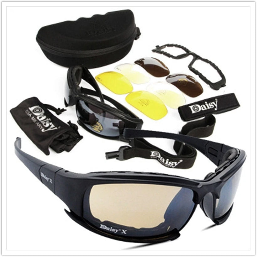Tactical Goggles With 4 Lens