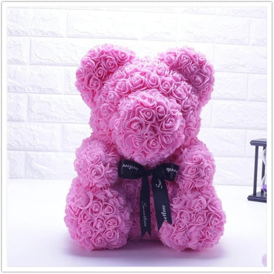 ROSE-COVERED TEDDY BEAR