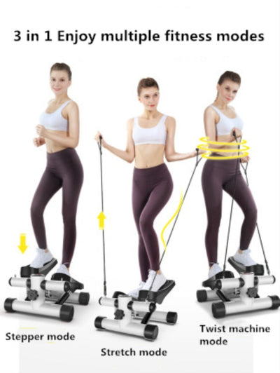 Mini Stepper With Resistance Bands