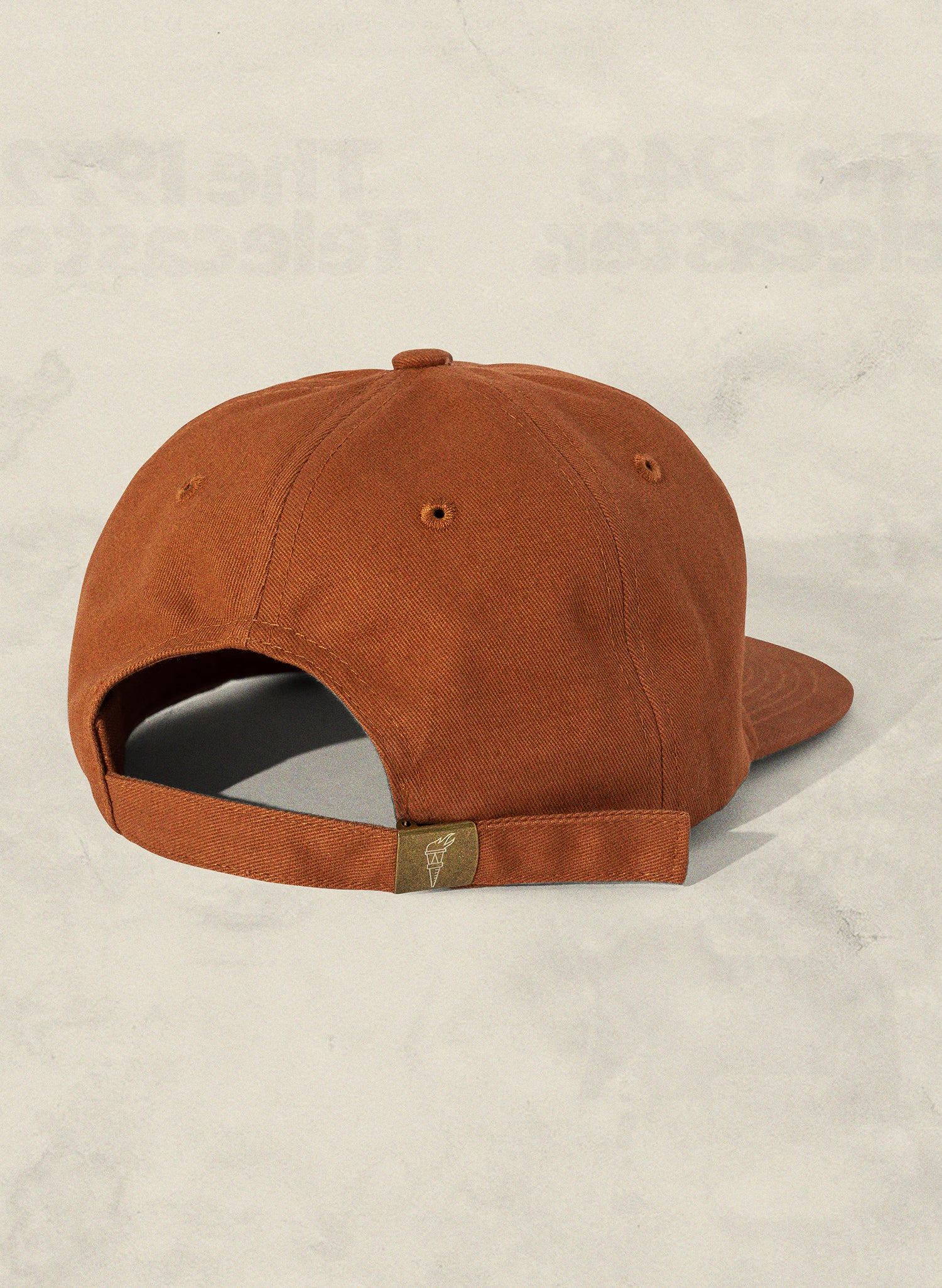 Grown in California Rust Field Trip Unstructured 6 Panel Workwear Strapback Hat Lifestyle Retro Vintage 70s