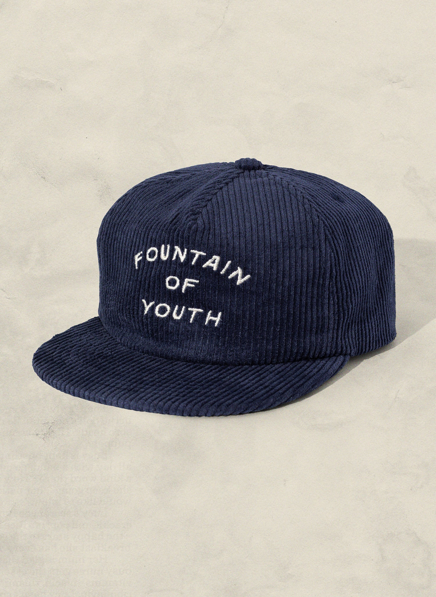 Fountain of Youth Navy Corduroy 5 Panel Unstructured Field Trip Vintage Inspired Workwear Hat by Weld MFG